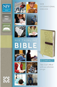 NIV Thinline Bible (NIV, Text, Melon Green/Chocolate Italian Duo-Tone)Boxed