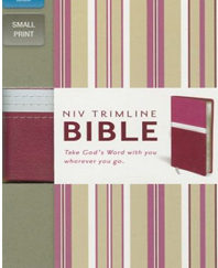 Trimline Bible (NIV, Orchid/Razzleberry Italian Duo-Tone, Gilded-Silver Page Edges)Boxed