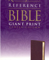 Giant Print Center-Column Reference Bible (KJV, Burgundy Imitation Leather, Velva-Gold Page Edges)