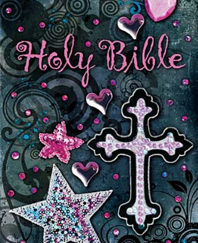 Holy Bible (NKJV, Shiny Sequin-Black)