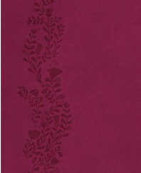 UltraSlim Bible (KJV/Text, 2013CR Cranberry Leathersoft, Gold Gilded Pages) BOXED