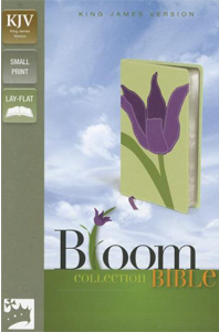 Bloom Collection Bible (KJV/Text, Tulip Italian Duo-Tone, Silver Gilded Pages)