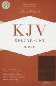 KJV Deluxe Gift Bible (Brown, Leather Touch)