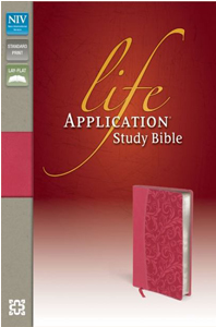 Life Application Study Bible (NIV Honey Suckle Pink, Silver Gilded-Pages, Italian Duo-Tone)