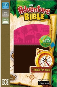 NIV Adventure Bible (NIV, Chocolate/Hot Pink Italian Duo-Tone)