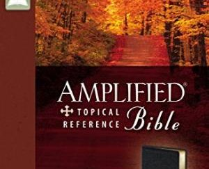 The Amplified Topical Reference Bible: Black, Bonded Leather.