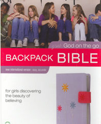 Backpack Bible: Grab: God on the Go (NIV, Lavender Italian Duo-Tone)