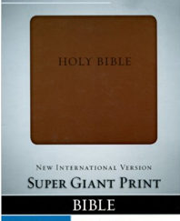 NIV Super Giant Print Bible, Italian Duo Tone Brown Leather Bound – August 28, 2013