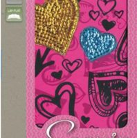 Sequin Bible (NIV, Hot Pink Hearts Padded Hardcover)Boxed