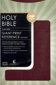 Giant Print Reference Bible (KJV, 0881CBGW - Burgundy Leatherflex)