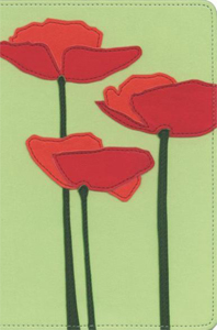 KJV Thinline Bloom Collection Bible (KJV, Text, Red Poppies Italian Duo-Tone)