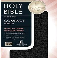 Bible – KJV Checkbook Bible Thomas Nelson Leather / fine binding