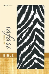 Safari Collection Bible (NIV/Text, Zebra Italian Duo-Tone)Boxed