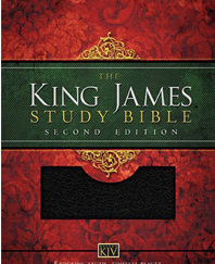 King James Study Bible, 2nd Edition (0135N - Black Bonded Leather, Gilded-Silver Page Edges)