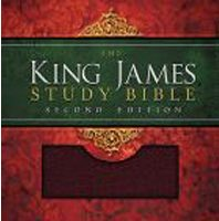 King James Study Bible (0135NBG - Burgundy Bonded Leather, Second Edition, KJV)