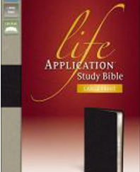 Large Print Life Application Study Bible (NIV, Thumb-Indexed, Black Bonded Leather, Gilded-Silver Page Edges)
