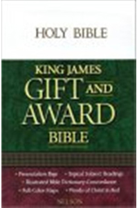 KJV Gift and Award Bible: White, leatherflex Imitation Leather