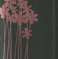 Compact Thinline Flora and Fauna Collection Bible (NIV, Black/Pink Flower Italian Duo-Tone, Gilded-Silver Page Edges)Boxed